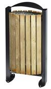 Poubelle bois exterieure Rossignol 60L gris manganese