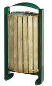 Poubelle bois exterieure Rossignol 60L vert mousse