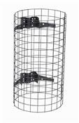 Entourage grille pour poubelle exterieure gris manganese