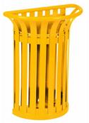 Corbeille Rossignol tulipe sur poteau jaune 35 L