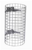 Entourage grille pour poubelle exterieure acier galvanise