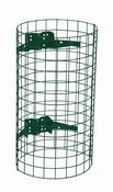 Entourage grille pour poubelle exterieure vert mousse
