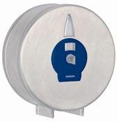 Distributeur papier toilette Jumbo inox brossé clef serrure