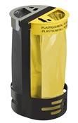 Support sac poubelle poser ou fixer rossignol deux flux jaune et gris