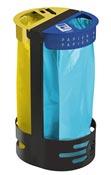 Support sac poubelle poser ou fixer rossignol deux flux jaune et bleu