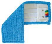 Frange microfibre de lavage à languettes et poches 44 x 14 cm