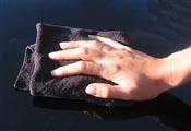 Chiffon microfibre top Noir 40 x 40