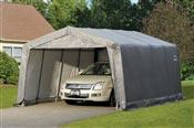 Garage demontable voiture structure acier et polyethylene 3,7 x 4,9 m