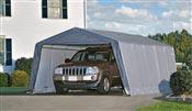 Garage demontable voiture structure acier et polyethylene 3,6 x 6,1 m