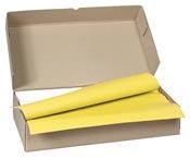Nappe papier 70 x 110 cm jaune colis de 250