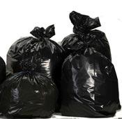 Sac poubelle 50 litres noir haute densité colis 500