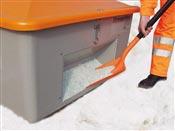 Bac a sel et sable 400 litres avec couvercle avec ouverture