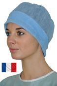 Bonnet jetable chirurgien bleu les 100