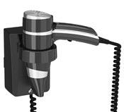 Seche cheveux electrique JVD brittony support noir avec interrupteur