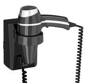 Seche cheveux JVD clipper II support noir interrupteur