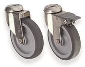 Jeu de 4 roues pour conteneur isotherme