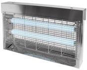 Destructeur d'insecte JVD 30 watts inox