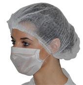Masque papier blanc 1 pli élastique les 100
