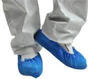 Surchaussure jetable polyéthylène bleu par 100