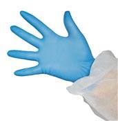 Gant nitrile jetable bleu non poudre boite de 100
