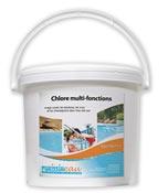 Galet multi fonctions chlore floculant algicide produit piscine 5 kg