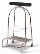 Porte sac poubelle cuisine inox 304 a pedale 110L