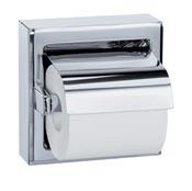 Distributeur papier toilette acier inoxydable brillant