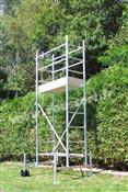 Echafaudage roulant aluminium hauteur travail 4,5 m taille haie