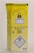 Caisse DASRI dechets infectieux 12 L norme NFX 30507 paquet de 10