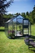 Serre de jardin Juliana Compact Plus noir 9,9m2 verre horticole