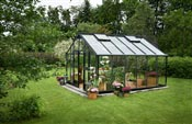 Serre de jardin Juliana Gartner 16,1m2 anthracite verre horticole