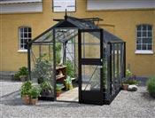 Serre de jardin Juliana Compact 5 m2 noire verre trempe