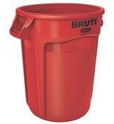 Conteneur Brute Rubbermaid rond 121 Litres rouge