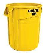 Conteneur brute Rubbermaid rond 121 Litres jaune