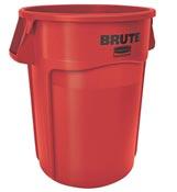 Conteneur Brute Rubbermaid rond 167 Litres rouge