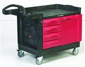 Chariot de manutention Rubbermaid TradeMasters 4 tiroirs 1 porte