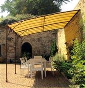 Tonnelle de jardin adossée 3 x 4 m promo