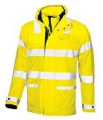 Manteau de pluie fluo de travail jaune glow
