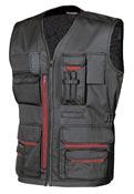 Manteau de travail sans manche multipoches noir