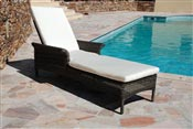 Bain de soleil resine tressee aluminium empilable Naxos Mikonos