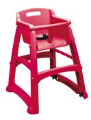 Chaise pour enfant Rubbermaid Sturdy Chair rouge