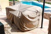 Housse canape jardin resine tressee 2 places Mikonos et Duo