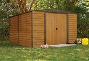 Abri de jardin Arrow WR1012 acier galvanisé 10.7m2 imitation bois