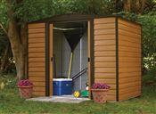 Abri de jardin Arrow acier galvanisé WR86 4m2 imitation bois