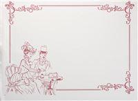 Acheter Nappe papier jetable deco Belle époque 30 x 40 cm colis de 500