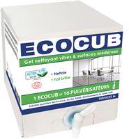 Acheter Ecocub nettoyant vitre et surface Ecolabel 10 L