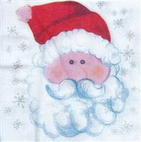 Acheter Serviette Noël papier Père noël 33 x 33 cm colis de 600