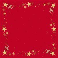 Acheter Surnappe Dunicel noel rouge 84x84 paquet de 5