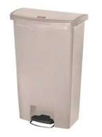 Acheter Poubelle Slim Jim Rubbermaid 68 L beige