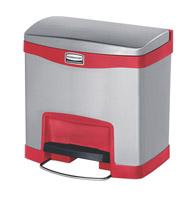 Acheter Poubelle Slim Jim Rubbermaid 15 L gris et rouge
